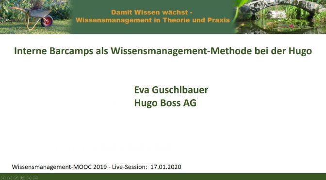 Sonderhinweis zur Live-Session am Fr. 17.1.2020